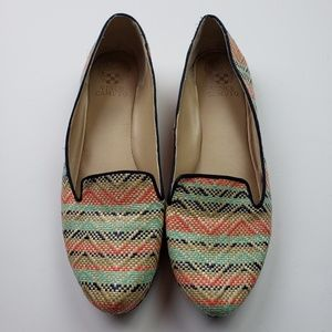VINCE CAMUTO Striped Chevron Woven Loafers, 10B